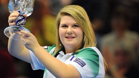 World Bowls Championships 2014 at the Potters Resort in Hopton. Rebecca Field (red) v Katherine Redn