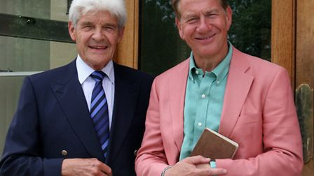 Michael Portillo with current resident of Tiptree Hall Peter Wilkin