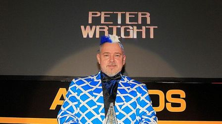 Peter Wright at the PDC awards