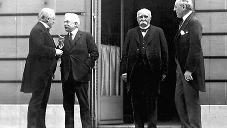 The Big Four at the Paris peace conference in May, 1919
