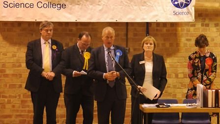 Tim Yeo at his election count in 2010.