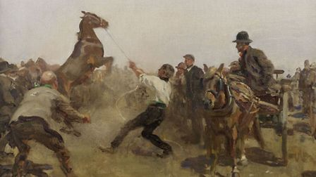 The Fair by Alfred Munnings which has fetched £182,500 at auction - it was once sold for £35.