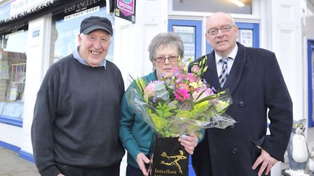 John and Pat Purdy are retiring from running Purdy's Newsagent in Southwold after 26 years and East