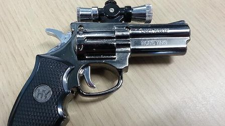 One of the lighters in the guise of an imitation revolver seized at Felixstowe docks