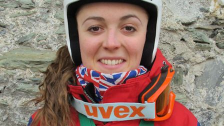 Jasmin Taylor, who has reclaimed her title as British women's telemark champion