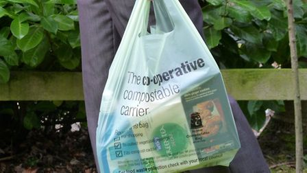Lightweight compostable carrier bags, which can be used to carry shopping home and then be re-used a