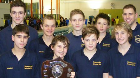 Swimmers from the winning Stowmarket Swimming Club