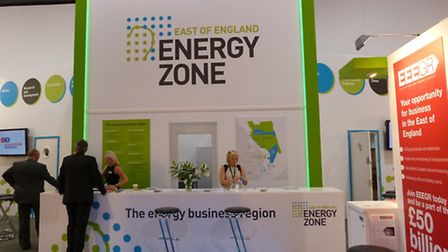 The East of England Energy Zone stand at Offshore Europe event in Aberdeen.