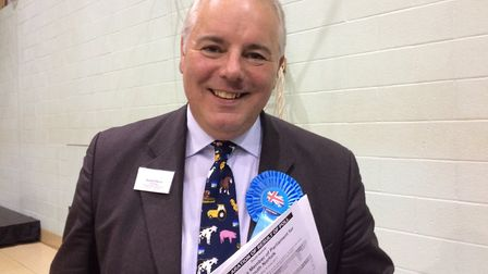 Richard Bacon, who held his seat in South Norfolk for the Conservatives. Photo: Becky Murphy