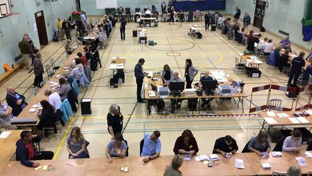 South Norfolk count held at Long Stratton Leisure Centre. Picture: Rebecca Murphy