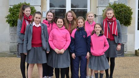 The girls from Ipswich High School who have all been selected to take part in national skiing traini