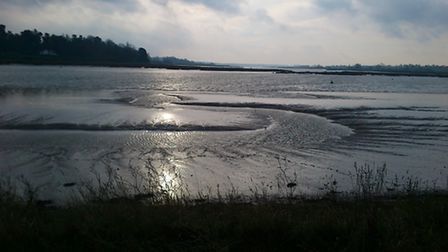 There is a flood alert in place for the River Deben
