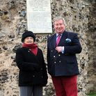Margaret Charlesworth and Simon Pott are pictured in the Abbey Gardens, Bury. They are part of the l