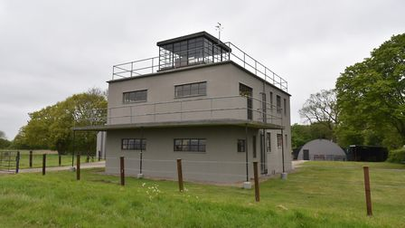 The 100th Bomb Group Museum in Thorpe Abbotts where once over 3,000 American airmen and crew were st