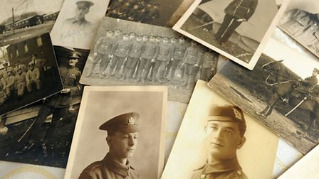 Ernie Broom discovered a box containing postcards and photos dating to World War One. Ernie is pictu