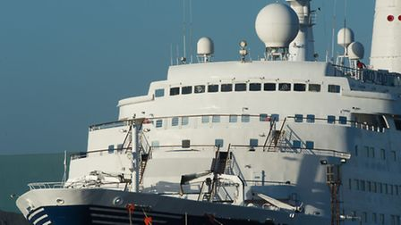 The Marco Polo cruise ship. Photo: Stefan Rousseau/PA Wire