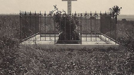 A picture from July, 1923. The grave is now maintained by the Commonwealth War Graves Commission. Th
