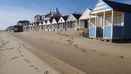 Sand shift at Southwold beach – by Jo Saunders of Durrants Holiday Lettings