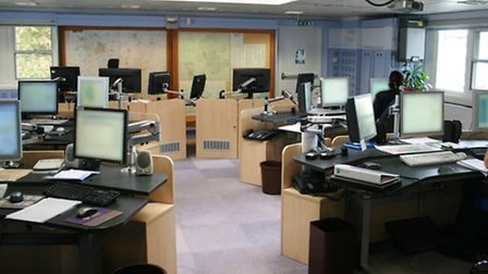 The joint fire control centre in Cambridgeshire.