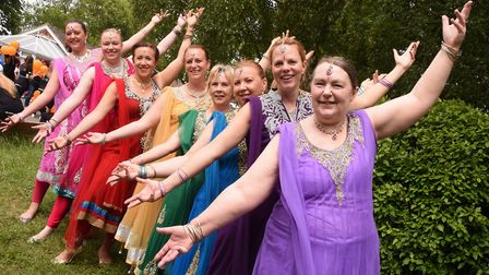 Bollywood Sparkles group in the Diss Carnival. Picture: DENISE BRADLEY