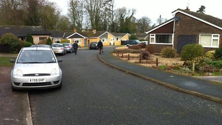 A 89-year-old woman was taken to hospital after she was attacked by three masked men at her home in