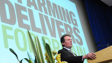 Speaker Adam Quinney, National Farmers Union vice president at last year's Norfolk Farming Conferenc