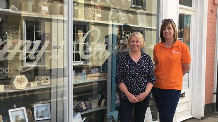 It's business as usual for Independent traders Catherine Anderson (left) and Kirsty Howard (right) w
