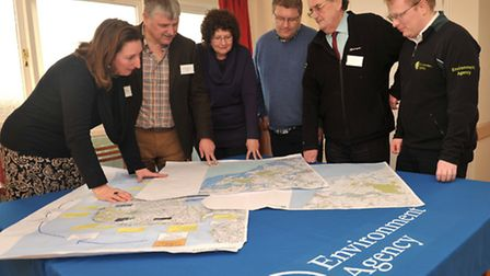 The Environment Agency held a drop in session in Orford to give help to people that were flooded by