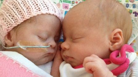 Pippa and Ruby together in hospital