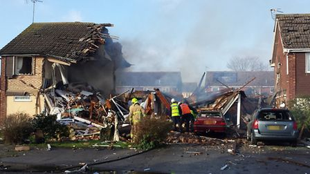 An Essex Police picture of the scene of the explosion