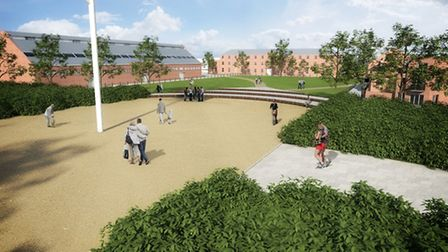 Images of the proposed new housing development at HMS Ganges, Shotley