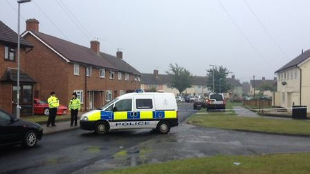 The scene of the siege in Parnell Road, Ipswich.