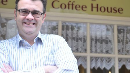 The Georgian Coffee House in Woodbridge. Owner Max Moussa.