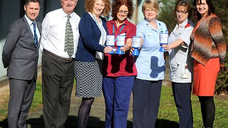 Official launch of the Forget-Me-Not Dementia Campaign at West Suffolk Hospital. Left to right, Dave