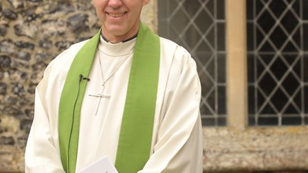 The Archbishop of Canterbury, the Most Revd Justin Welby in Aldeburgh last year