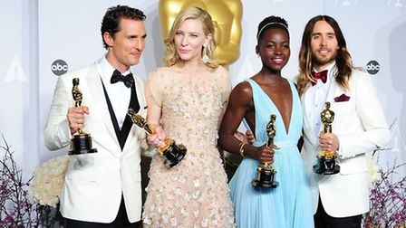Winners of the Best Actor and Actress Oscars, Matthew McConaughey, Cate Blanchett and Best Supportin