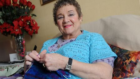 Eileen Butler talks about loneliness problems while fighting cancer. Eileen is pictured at her home