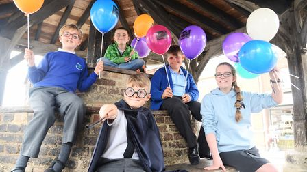 Launch of the Wymondham Carnival. Pictured are (from left) Adele (9), Spencer (10), Tobias (6), Jaco