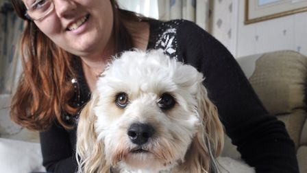 Louise Jacobs credits her two-year-old Bichon Frise Lhasa Apso cross Teddy for saving her life.