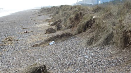 Beach with Sizewell power station in the distance (ealife walk, Richard Tyson)