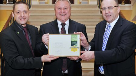 Jason Whittleton Sourced Locally Specialist East of England Co-op, Colin Gray of Rossi receiving his