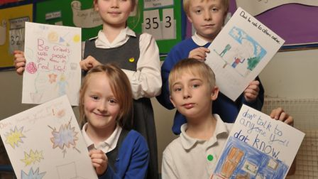 Children and parents at Easton Primary School took part in national internet safety day. Winners of