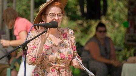 Entertainment at the 1940s weekend at the Greyhound pub in Tibenham. Picture: Mark Bancroft
