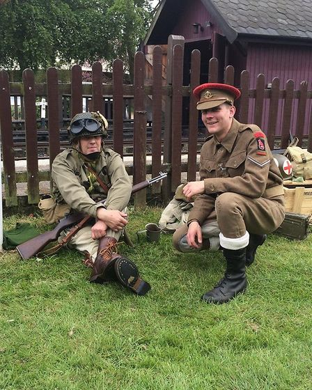 Visitors dressed up for the Greyhound pub's 1940s weekend. Picture: Mark Bancroft