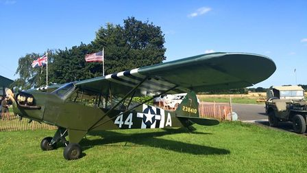 Aircraft on display at the 1940s weekend in Tibenham. Picture: Mark Bancroft