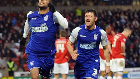 David McGoldrick celebrates scoring the equaliser at Oakwell to earn a 2-2 draw with Barnsley