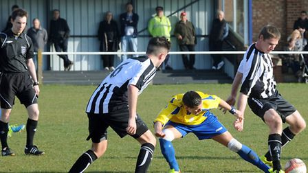 Woodbridge Town entertain Newmarket Town at Notcutts Park on Saturday. A close encounter saw a late