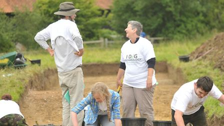 Start of a crowd-funded and crowd-sourced archaeological dig at Leiston Abbey.; Amateur archaeologis