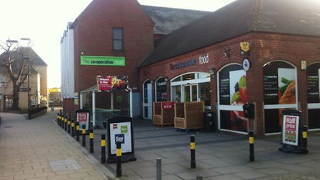 The former Diss Co-Op which Aldi is seeking permission to extend.