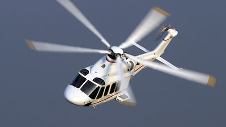 An AgustaWestland helicopter in flight